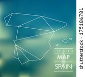map of spain. map concept | Shutterstock .eps vector #175186781