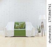 white minimalist living room...   Shutterstock . vector #1751868761