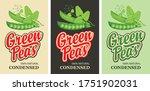 green peas labels in retro... | Shutterstock .eps vector #1751902031