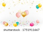 set of colorful balloons with... | Shutterstock .eps vector #1751911667