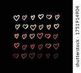raised hands of different race... | Shutterstock .eps vector #1751914904
