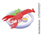 lobster dish icon. isometric of ...   Shutterstock .eps vector #1751919227
