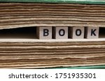 Close Up Of Isolated Word Book...