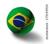 brazilian soccer ball | Shutterstock . vector #175193924