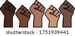black lives matter proud fists  ...   Shutterstock .eps vector #1751939441