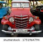 Havana Cuba May 2019  A Red...