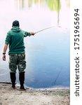 Adult Man  Professional Fishing ...