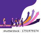a group of people following...   Shutterstock .eps vector #1751979374