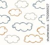 seamless background sky cloud...   Shutterstock .eps vector #1752000527