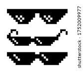 pixel glasses. sun glasses... | Shutterstock .eps vector #1752009977