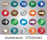 arrow icon set illustrated on... | Shutterstock .eps vector #175201661