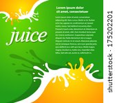 juice fruit drops liquid orange ... | Shutterstock .eps vector #175202201