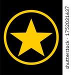 star icon vector logo design
