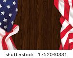 vintage american flag on a... | Shutterstock .eps vector #1752040331
