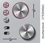 bright metal buttons and dials...