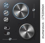 dark metal buttons and dials...