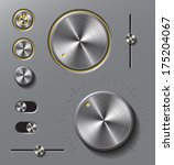 grey metal buttons and dials...