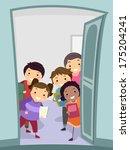 illustration of a group of kids ... | Shutterstock .eps vector #175204241