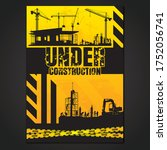 construction vector background... | Shutterstock .eps vector #1752056741
