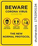 Vector Poster  Corona Virus ...