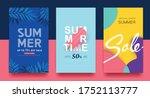 summer sale background layout... | Shutterstock .eps vector #1752113777