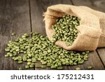 Green Coffee Beans In Coffee...