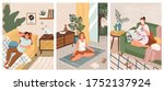 stay at home concept vector... | Shutterstock .eps vector #1752137924