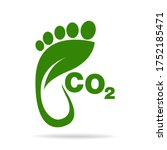 co2 footprint concept sign icon ... | Shutterstock .eps vector #1752185471