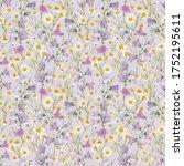 beautiful seamless floral... | Shutterstock . vector #1752195611
