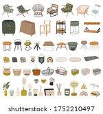 trendy scandinavian interior... | Shutterstock .eps vector #1752210497