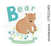 letter b   bear. alphabet with...