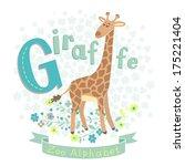 Letter G   Giraffe. Alphabet...