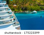 side of a cruise ship with... | Shutterstock . vector #175223399