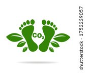 co2 footprint concept sign icon ... | Shutterstock .eps vector #1752239057