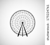 ferris wheel from amusement... | Shutterstock .eps vector #175224761