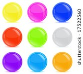 glossy buttons | Shutterstock .eps vector #17522560