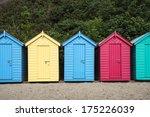 beach huts at llanbedrog on the ...