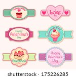 valentines day labels | Shutterstock .eps vector #175226285