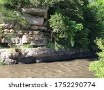 Sandstone and Limestone Cliff along Apple River at Apple Canyon State Park
