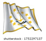 vector illustration of a waving ... | Shutterstock .eps vector #1752297137