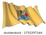 vector illustration of a waving ... | Shutterstock .eps vector #1752297164