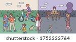 lifestyle opposite to corona...   Shutterstock .eps vector #1752333764