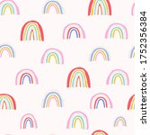 cute seamless pattern with... | Shutterstock .eps vector #1752356384