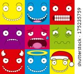 cartoon set of different cute... | Shutterstock .eps vector #175235759