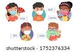 multi ethnic boys   girls kids... | Shutterstock .eps vector #1752376334