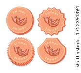 set with four round labels for... | Shutterstock .eps vector #1752394394