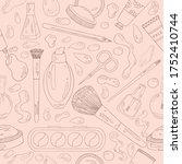 decorative cosmetics pattern.... | Shutterstock .eps vector #1752410744