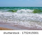 sea waves. coast. waves in sea | Shutterstock . vector #1752415001