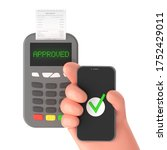 contactless wireless approved... | Shutterstock . vector #1752429011