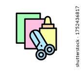 scissors  glue  paper icon....